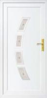 Fehér panel bejárati ajtó